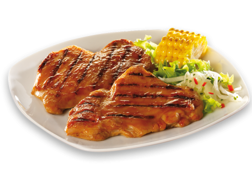 "Chicken BBQ Steak ""Goldrush Smoky Barbecue"""